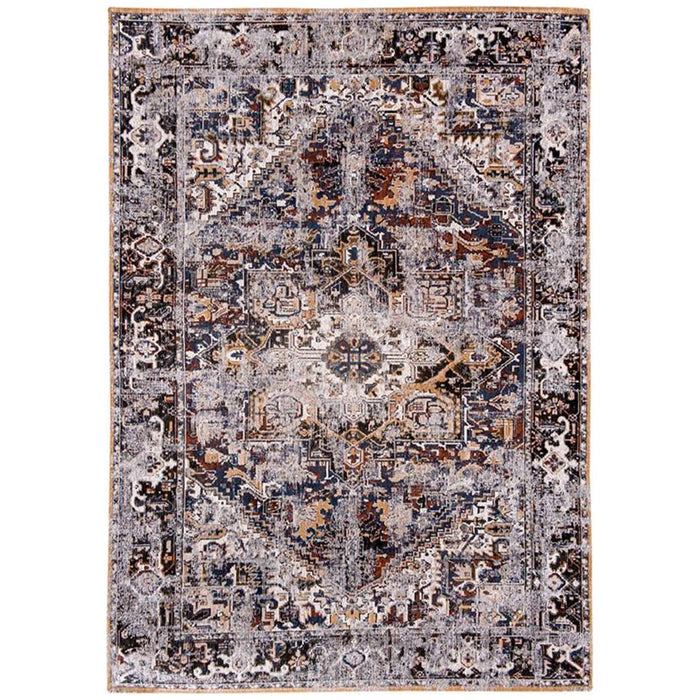 Louis de Poortere Antiquarian Heriz Antique 8707 Divan Blue Rug