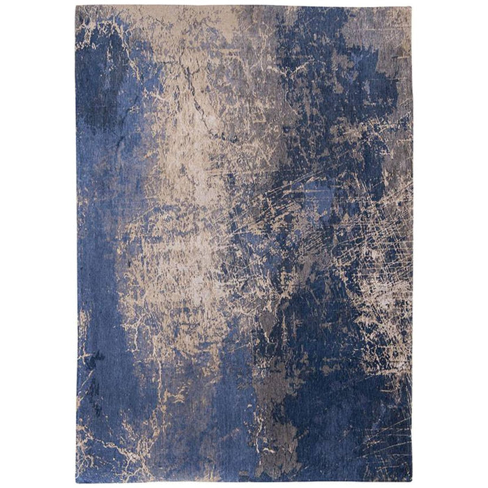 Louis de Poortere Mad Men Cracks 8629 Abyss Blue Rug