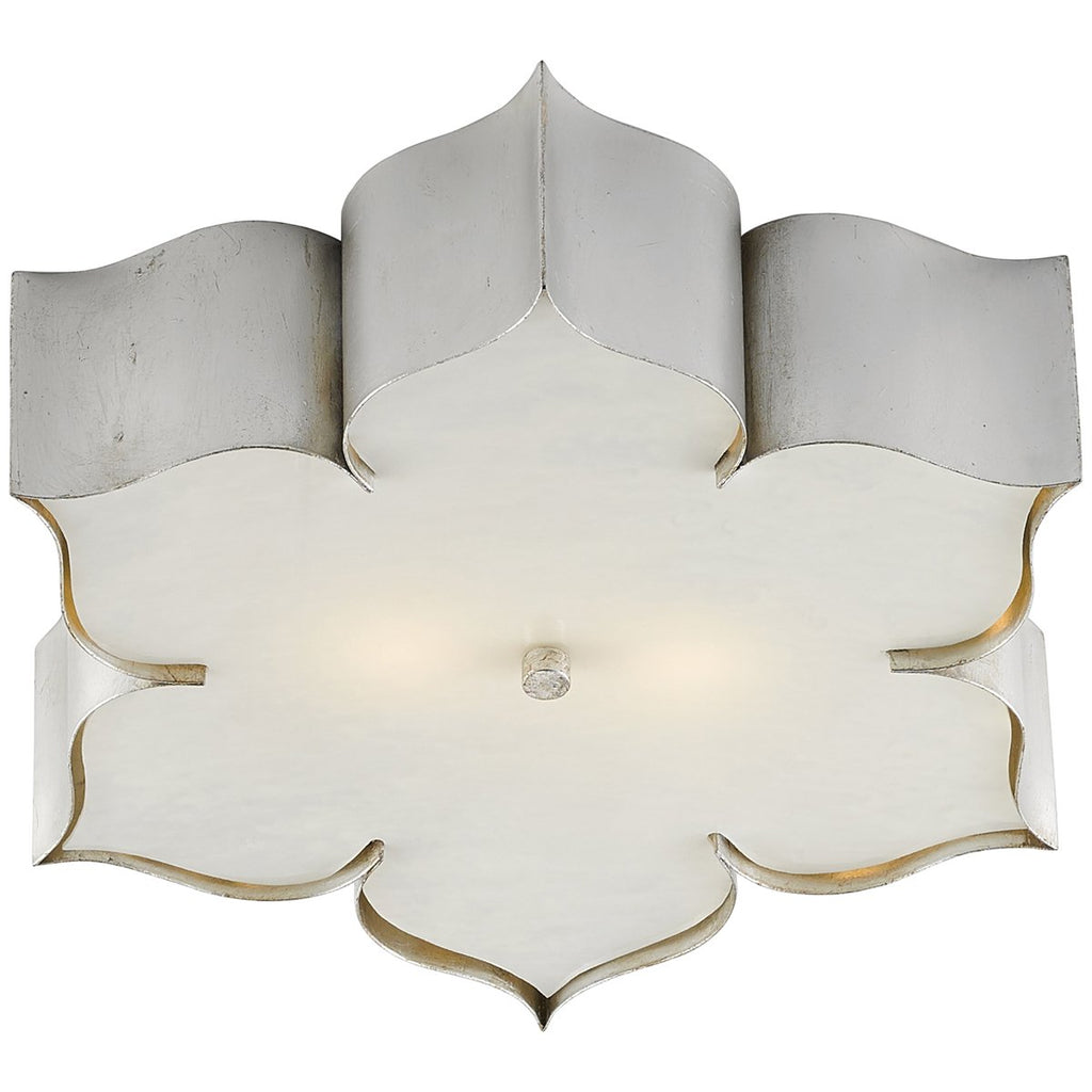 Currey and Company Grand Lotus Silver Flush Mount