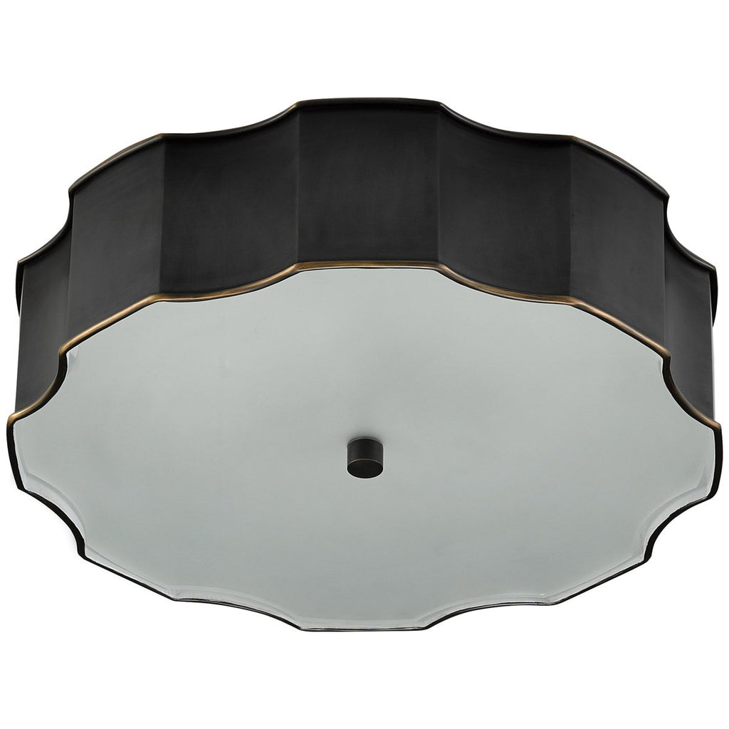 Currey and Company Wexford Bronze Flush Mount
