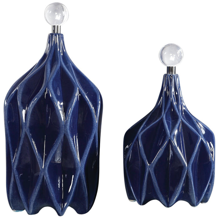 Uttermost Klara Geometric Bottles - Set of 2