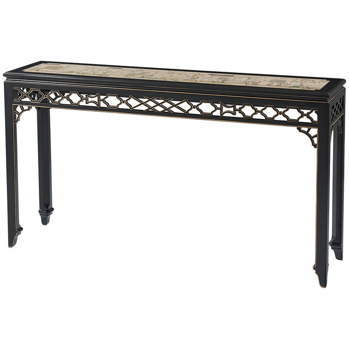 Theodore Alexander Long Hall Chinoiserie Console Table