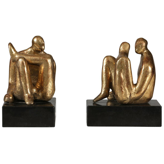 Bungalow 5 Amadeo Sitting Statue Set of 2 in Gold