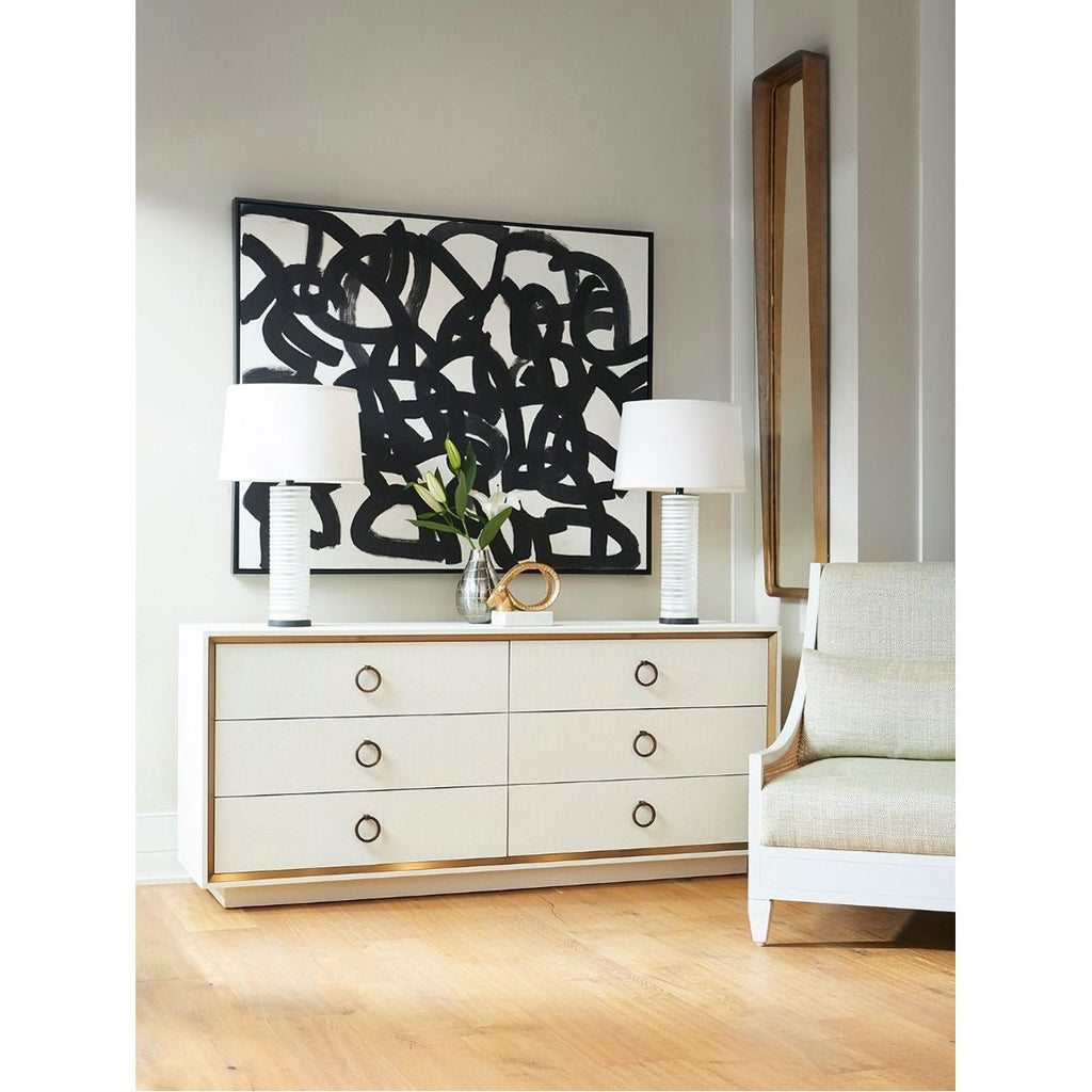 Bungalow 5 Ansel Extra Large 6-Drawer Dresser with Raquel Pull