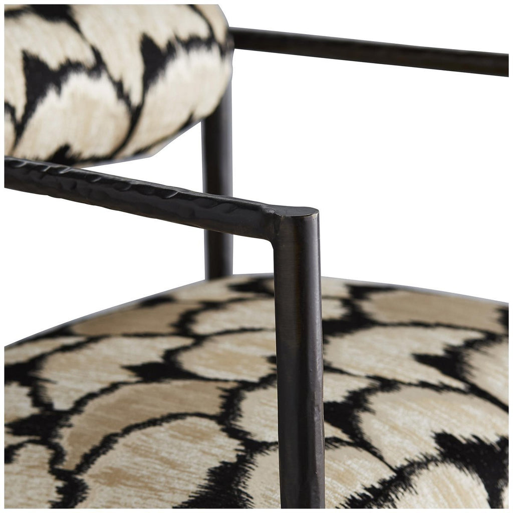 Arteriors Barbana Chair - Ocelot Embroidery