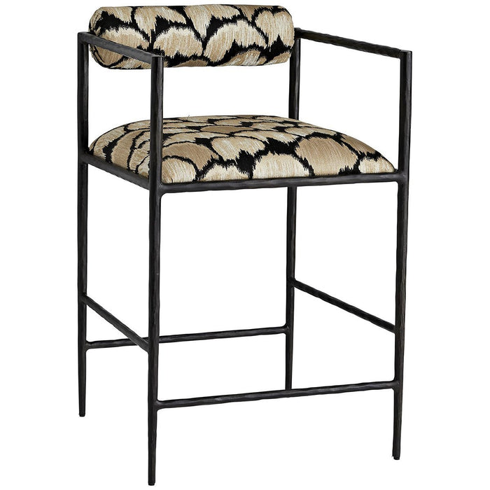 Arteriors Barbana Counter Stool - Ocelot Embroidery