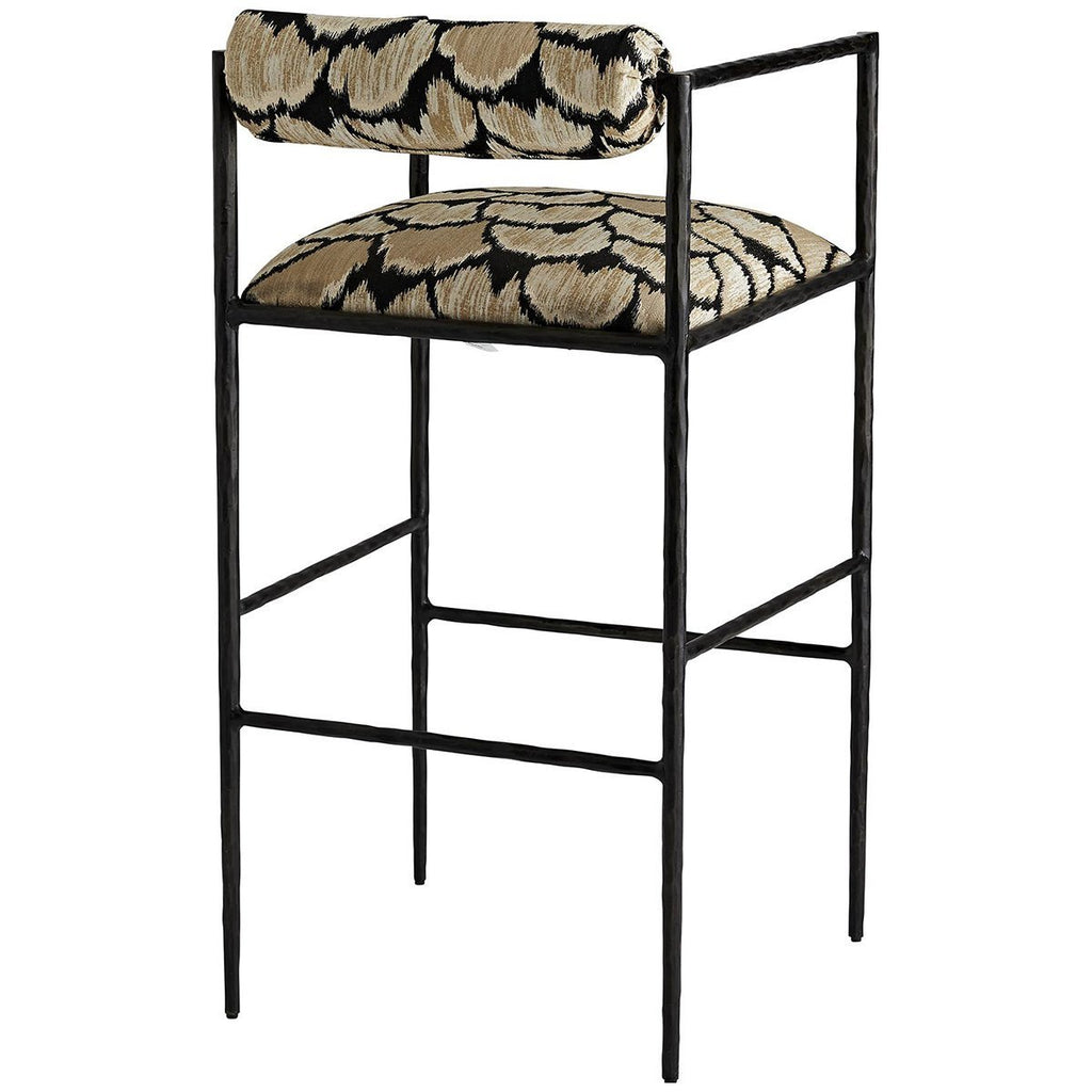Arteriors Barbana Bar Stool - Ocelot Embroidery
