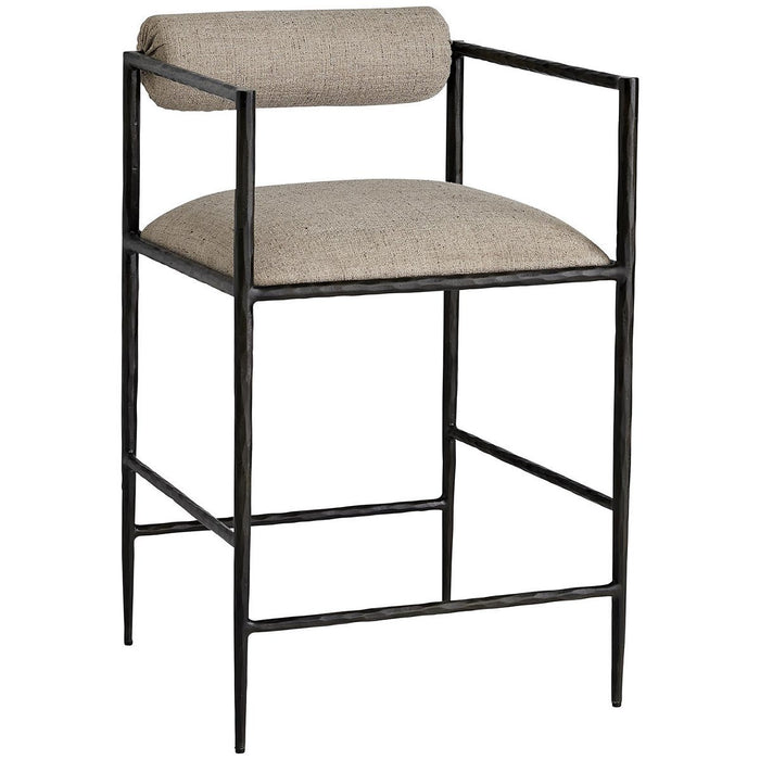 Arteriors Barbana Counter Stool - Pewter Texture