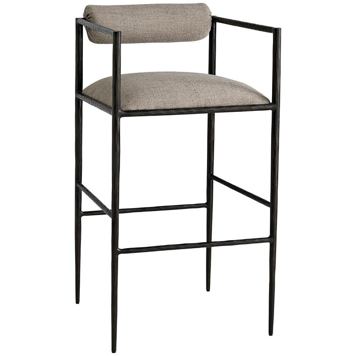 Arteriors Barbana Bar Stool - Pewter Texture