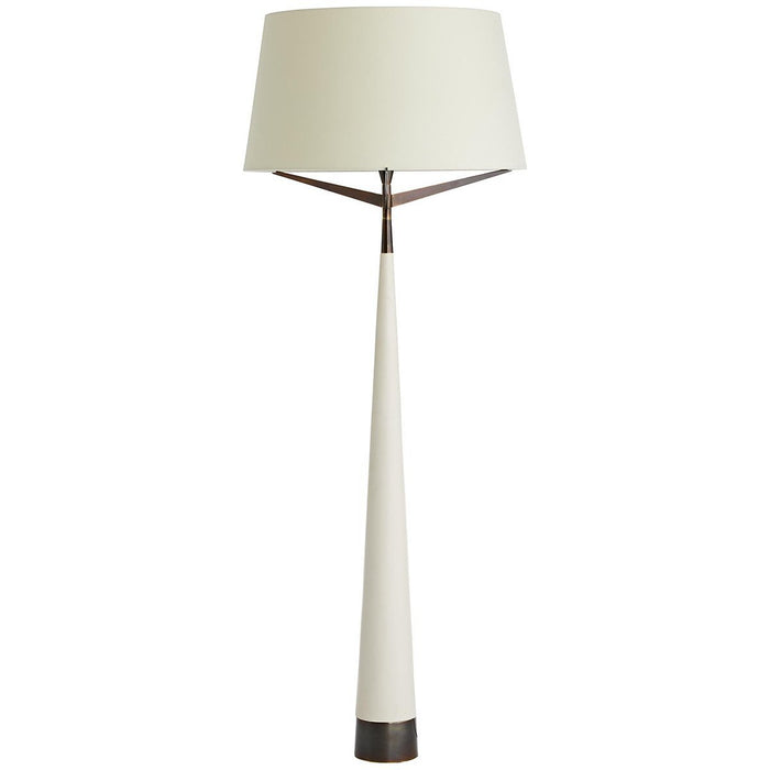 Arteriors Elden Floor Lamp - Ivory Resin, Heritage Brass