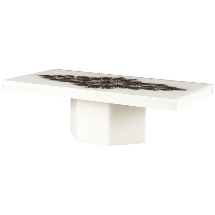 Baker Furniture Peacock Rectangle Cocktail Table BAA3256