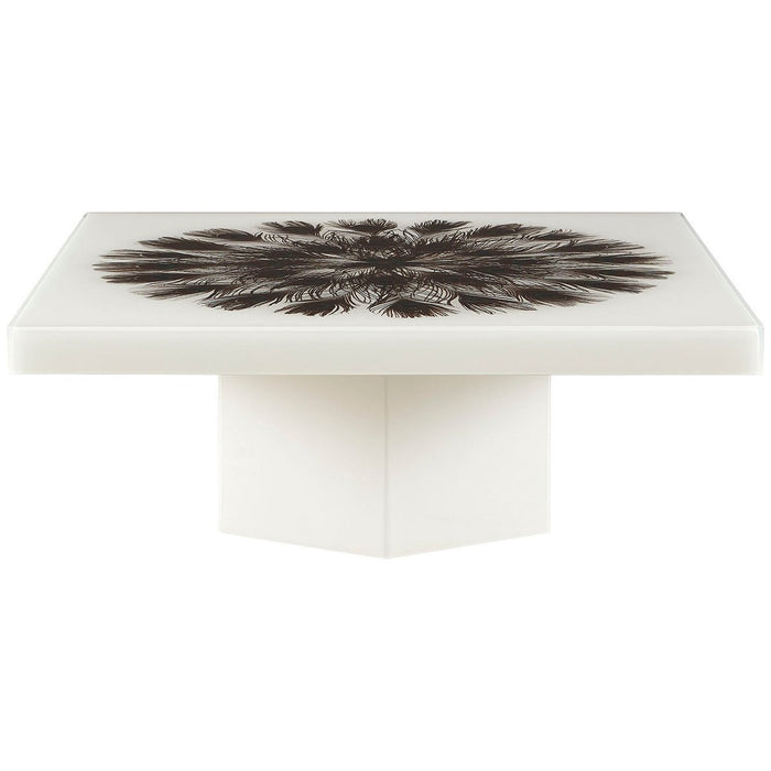Baker Furniture Peacock Square Cocktail Table BAA3261