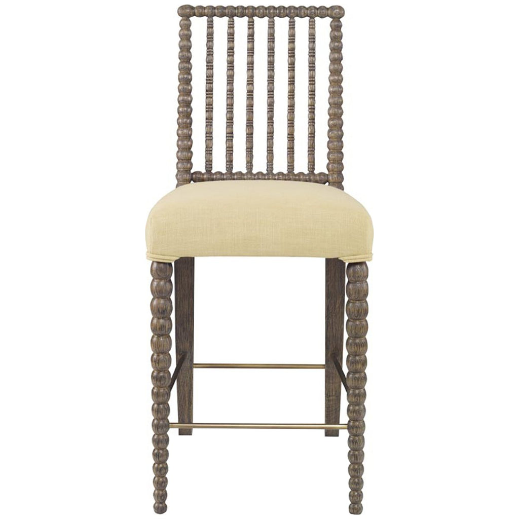Mr. Brown London Beatrix Counter Height Stool in Linen