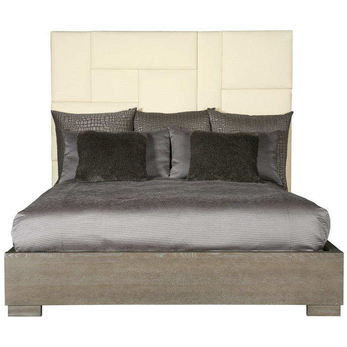 Bernhardt Mosaic Upholstered Dark Taupe Bed