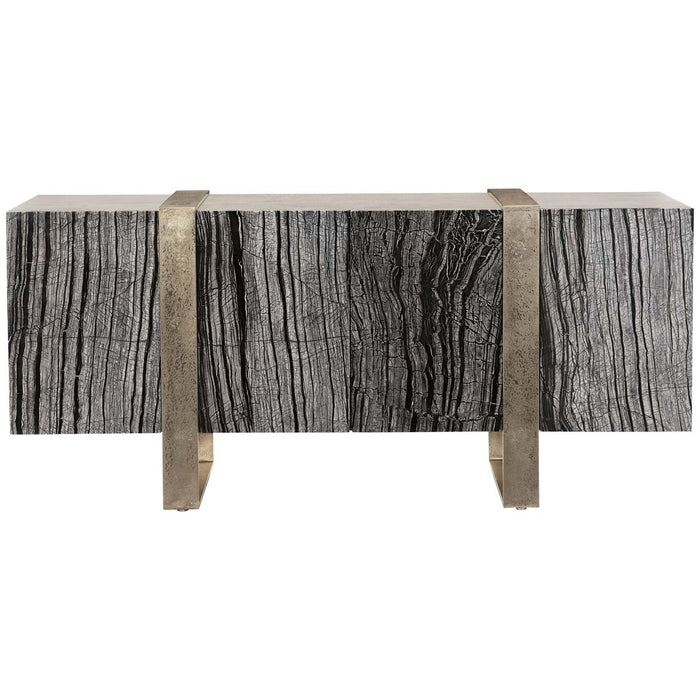 Bernhardt Linea Entertainment Console - Black Forest Marble