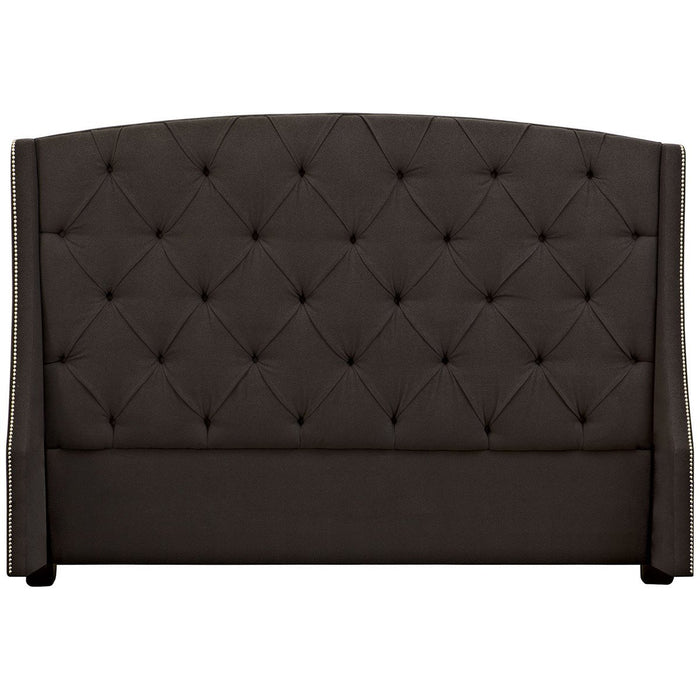 Bernhardt Interiors Jordan Button-Tufted Wing Headboard