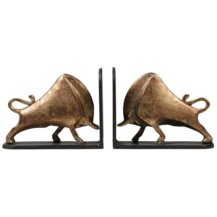 Bungalow 5 Bisoni Bookends Set of 2 in Gold