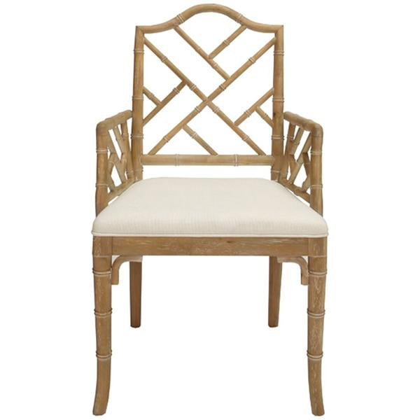 Worlds Away Bamboo Dining Armchair