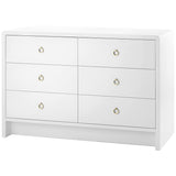 Bungalow 5 White Bryant Extra Large 6-Drawer Dresser