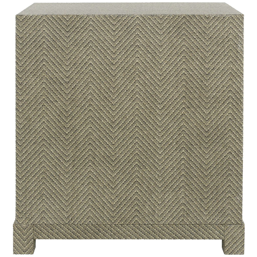Bungalow 5 Brittany 3-Drawer Side Table in Gray Tweed