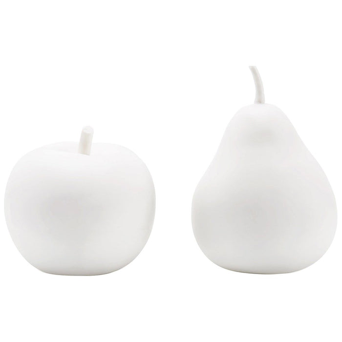 Bungalow 5 Apple and Pear Porcelain Figures - White