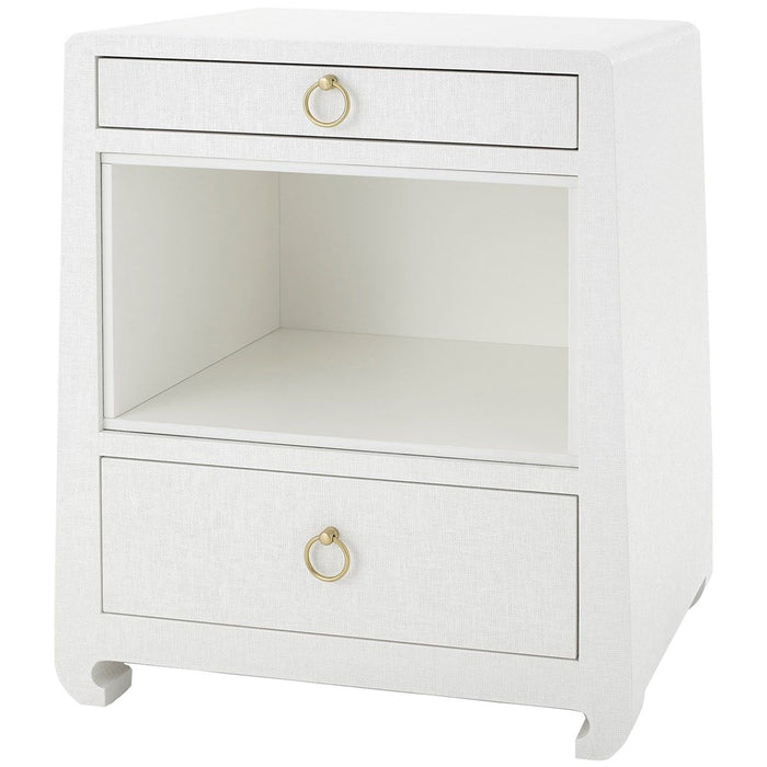 Bungalow 5 Ming 2-Drawer Side Table - White