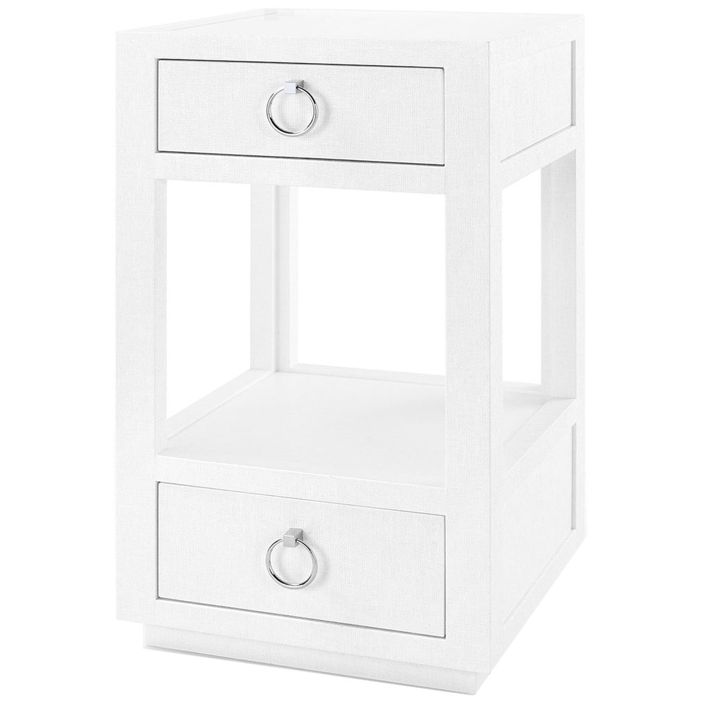 Bungalow 5 White Camilla 2-Drawer Side Table