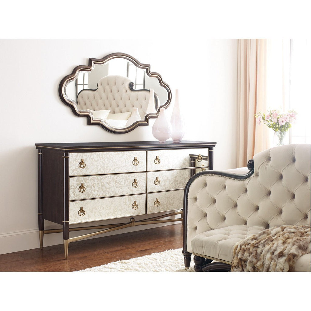 Caracole Everly Warm Silver Bed Bench