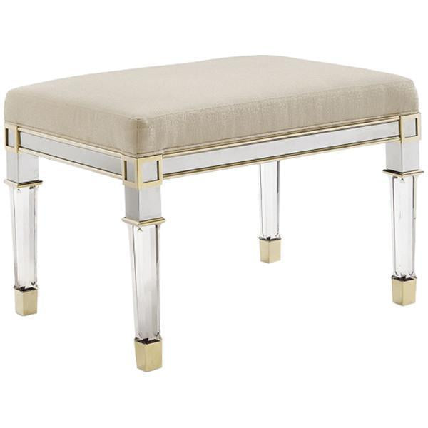 Caracole Classic Silver and Gold Bench