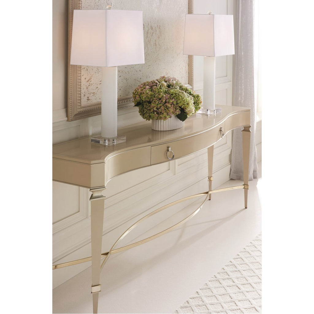 Caracole Classic Slim Chance Console Table