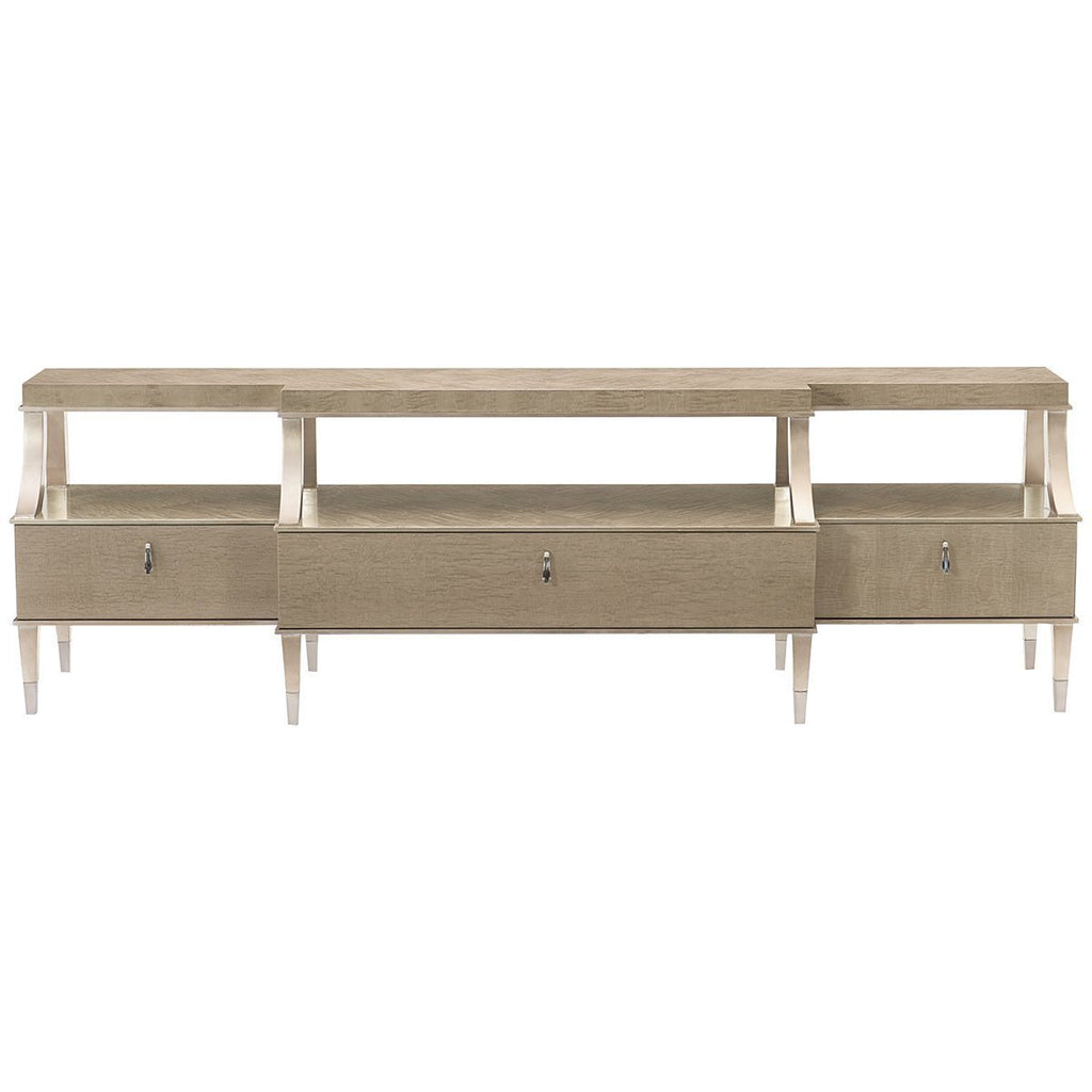 Caracole Classic Shelf Appeal Media Console Table