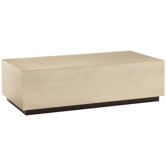 Caracole Rectangular Taupe Silver Cocktail Couture Table