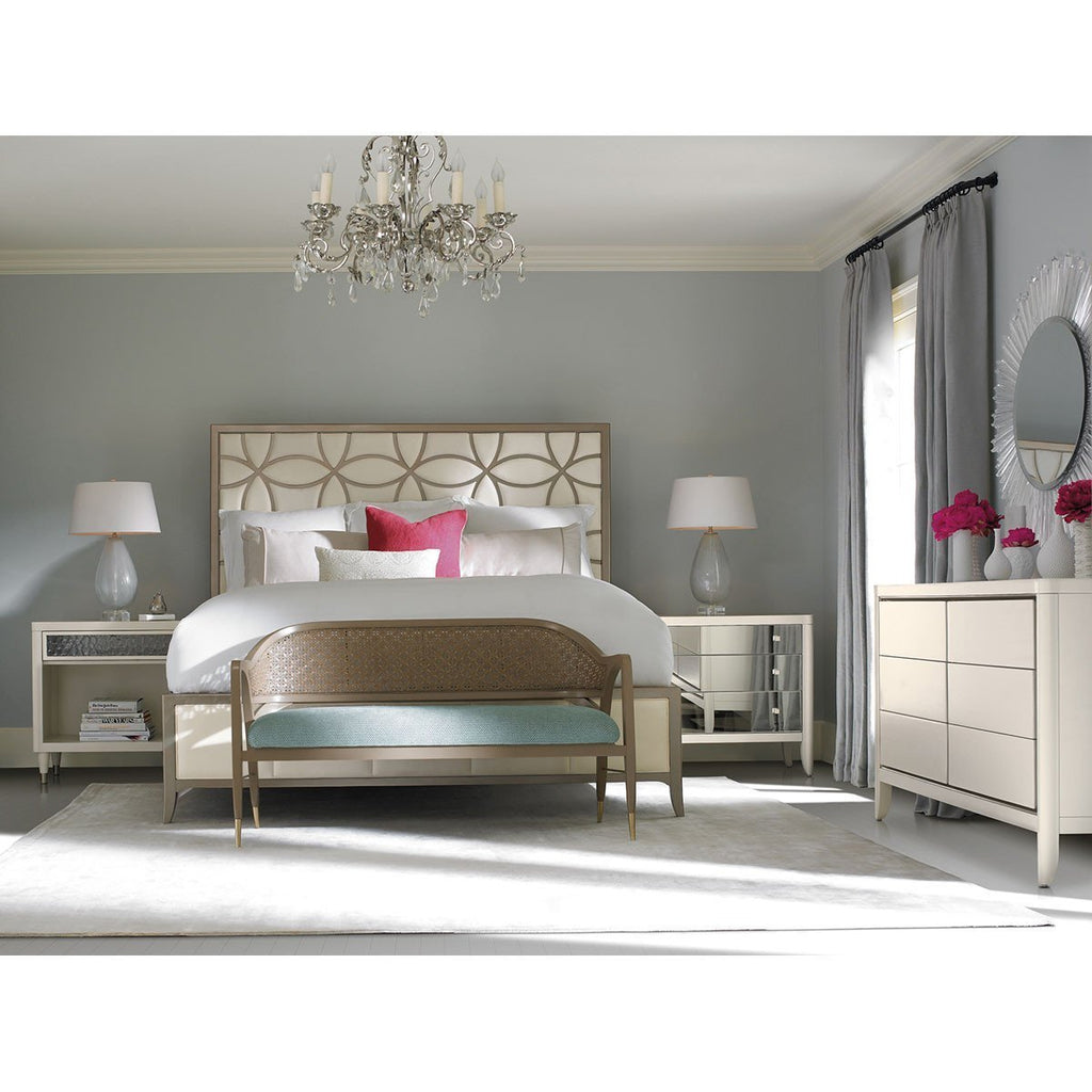 Caracole Sleeping Beauty Bed - Taupe Paint