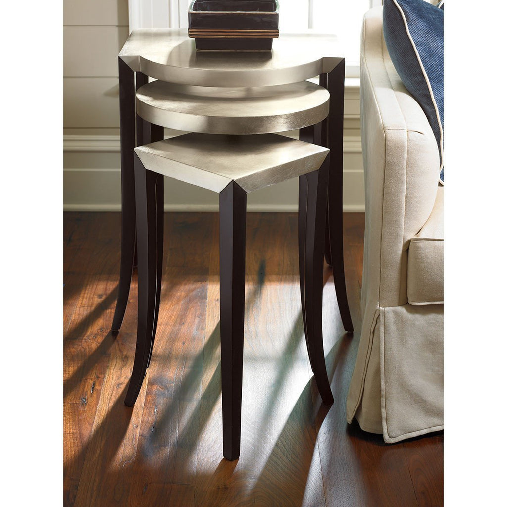Caracole out & about Ebony and Taupe Silver Side Table