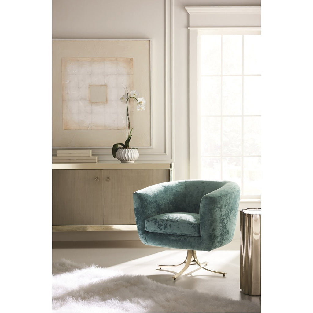 Caracole Upholstery Twirl Around Swivel Chair