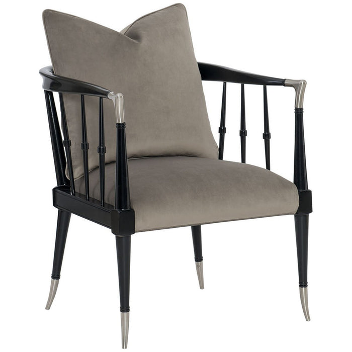 Caracole Upholstery Black Beauty Chair