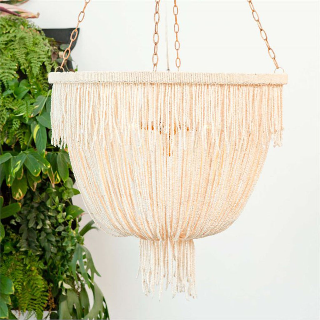 Made Goods Carmen Draped Coco Beads 5-Light Chandelier