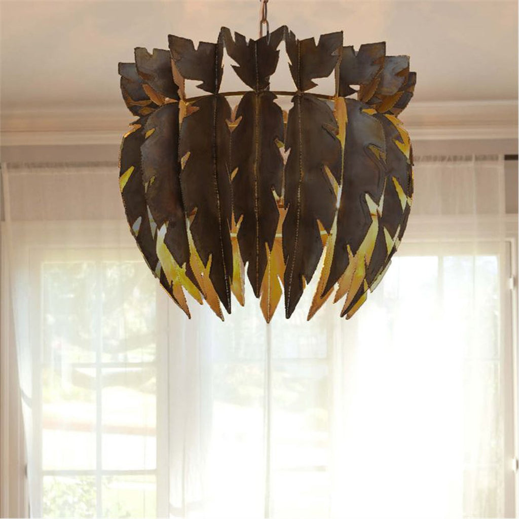 Made Goods Harper Brutalist Metal Drum Chandelier