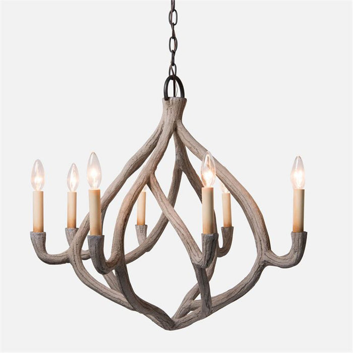 Made Goods Ulla Organic Gesso Chandelier