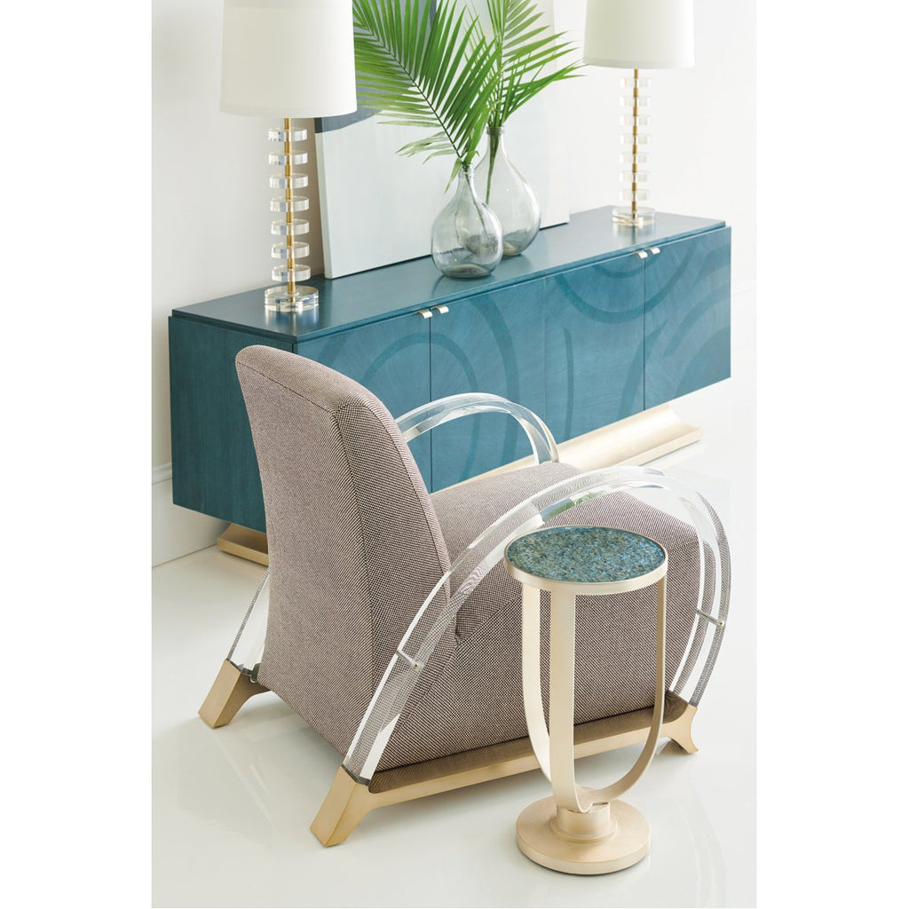 Caracole Sea Side Table - Golden Blonde Leaf