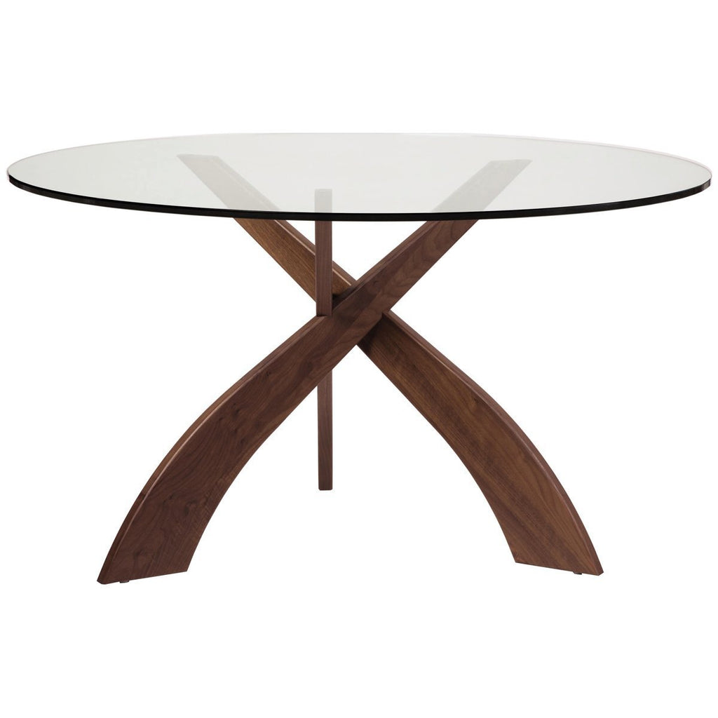 Copeland Furniture Statements Entwine Round Glass Top Dining Table