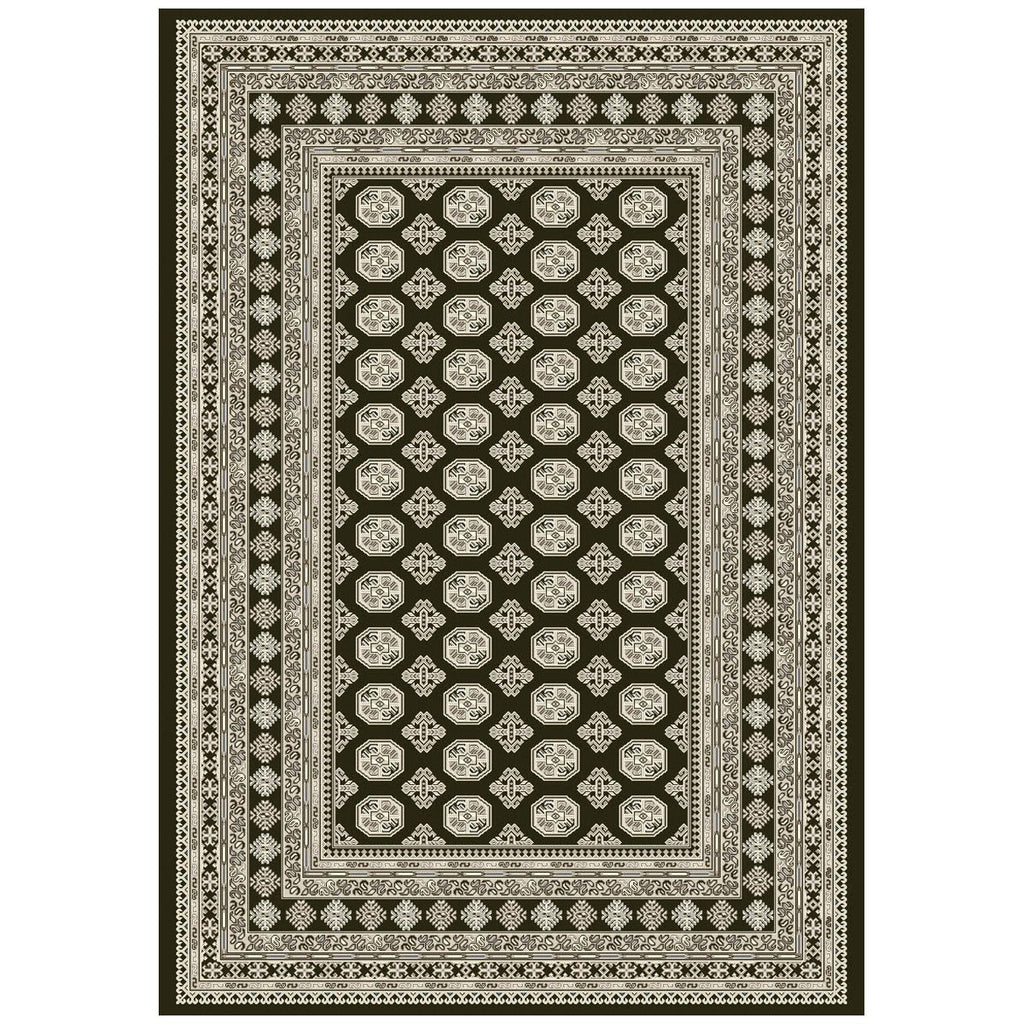 Dynamic Rugs Ancient Garden 57102-3636 Charcoal/Silver Rug