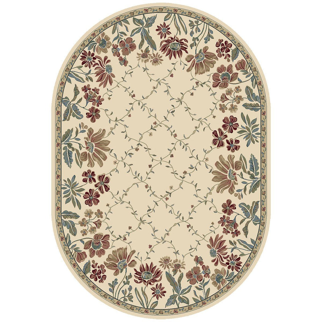 Dynamic Rugs Ancient Garden 57084-6464 Ivory Rug