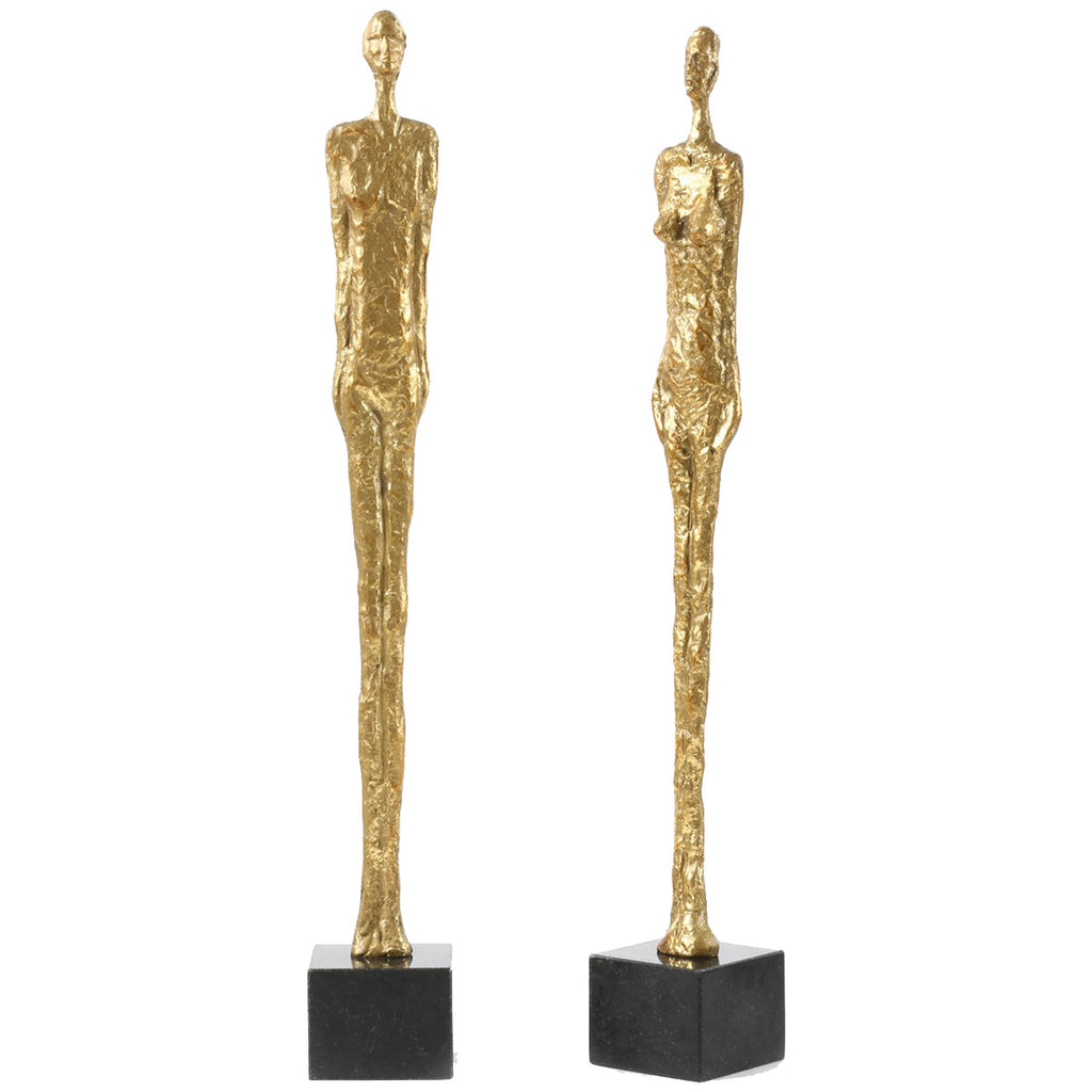 Bungalow 5 Gold Dora Mar Statue Pair