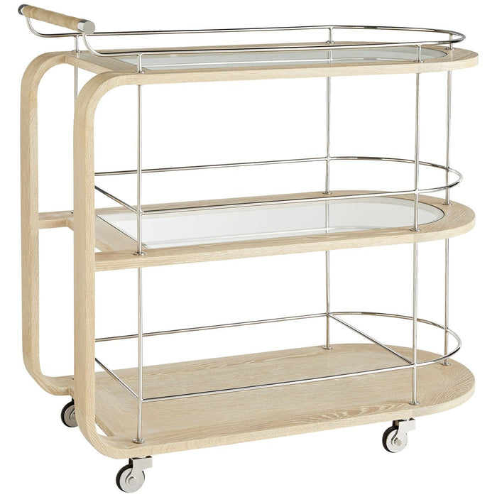 Arteriors The Beth Webb Brays Bar Cart