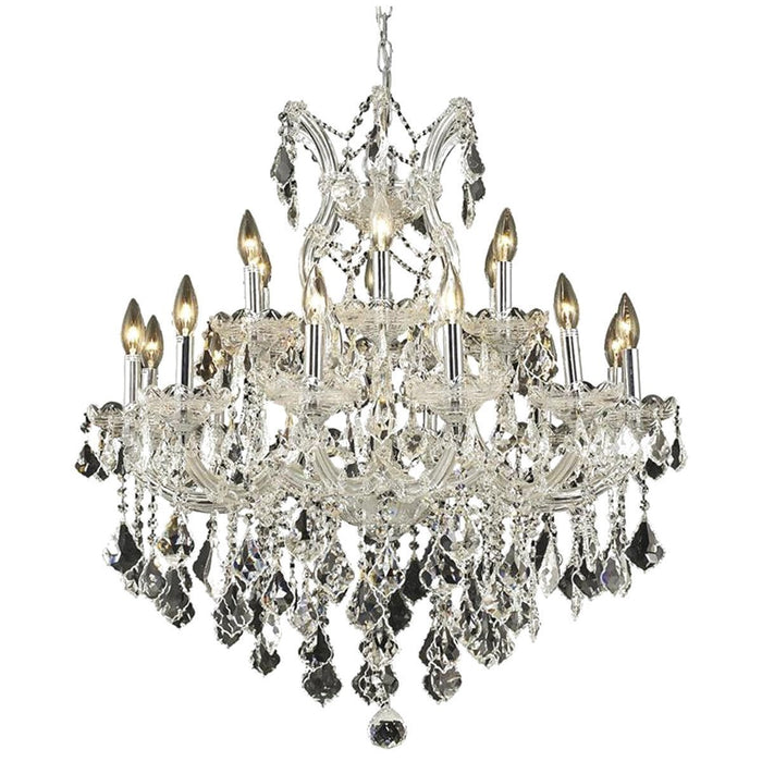 Elegant Lighting 2800 Maria Theresa 19 Lights 30-Inch Chandelier