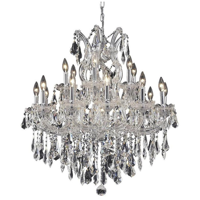 Elegant Lighting 2801 Maria Theresa 19 Lights 30-Inch Chandelier