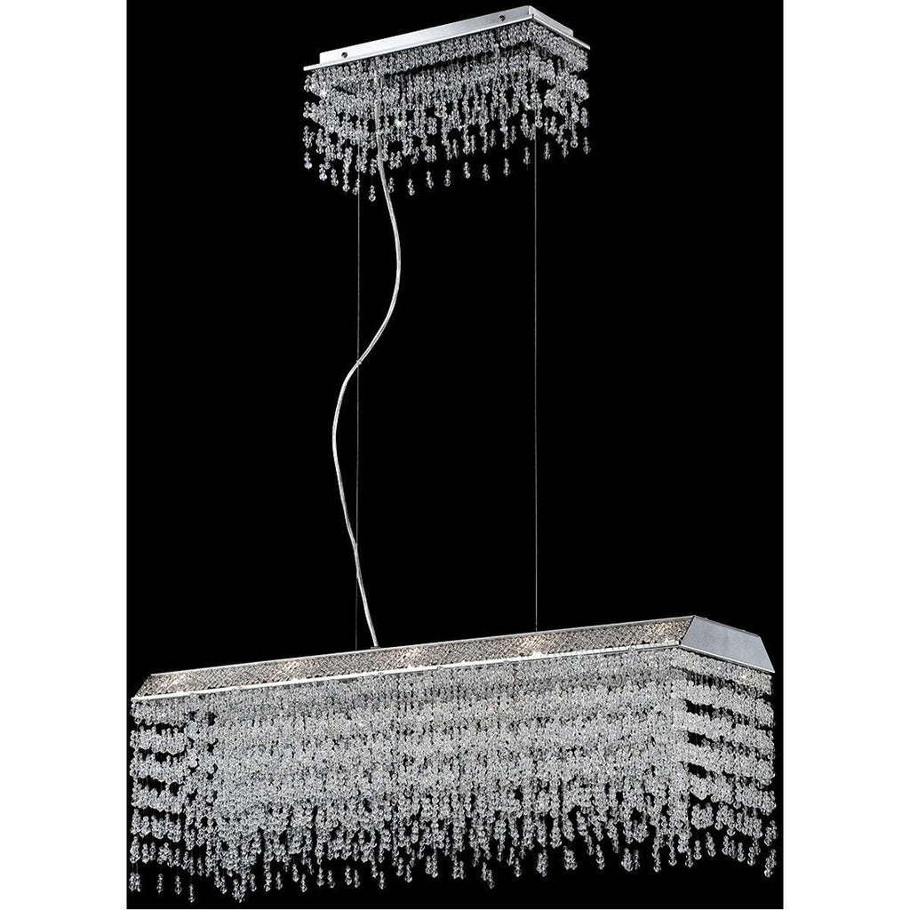 Eurofase DESIGNWL2017 Fonte 10-Light Rectangular Chandelier
