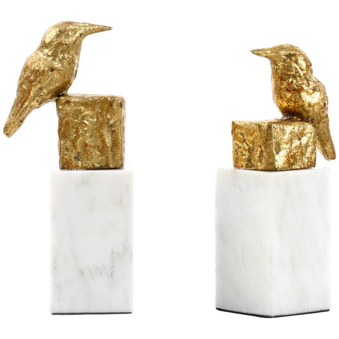 Bungalow 5 Gold Finch Statue Pair