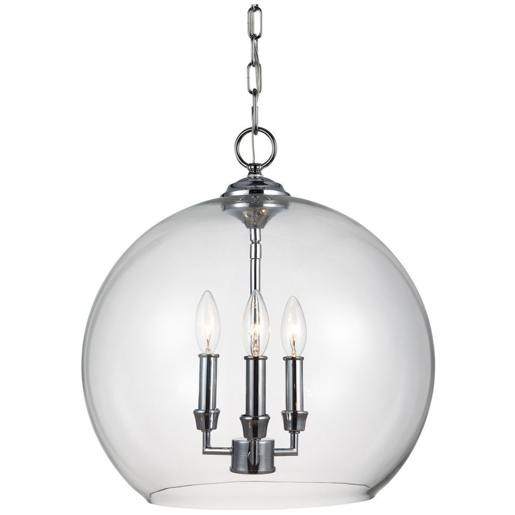 Feiss Lawler 3 Lights Chrome Pendant